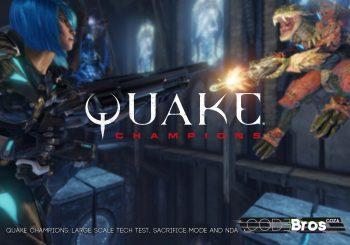 Quake Champions: Large Scale Tech Test, Sacrifice Mode and NDA Drop