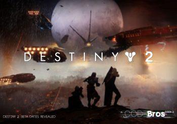 Destiny 2: Beta Dates Revealed